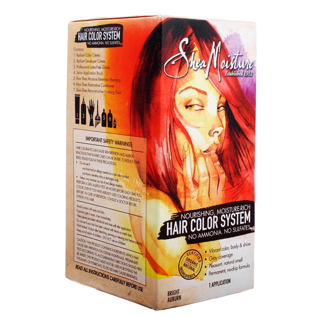 Shea Moisture Hair Color System Dark Auburn 2018 Images Pictures