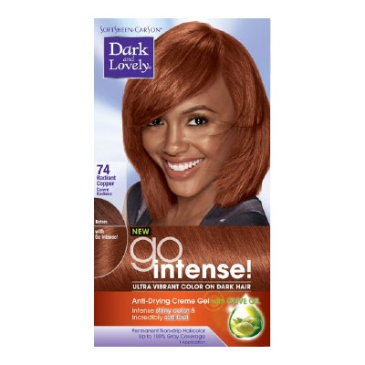 Dark Lovely Go Intense Ultra Vibrant Permanent Hair Color Golden  Dark Brown